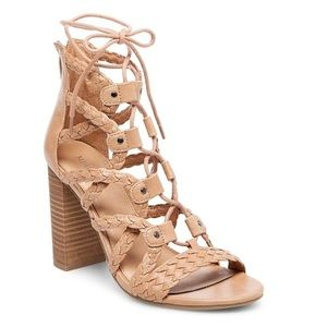 Shoes - Kolbi Braided Ghillie Heeled Gladiator Sandals